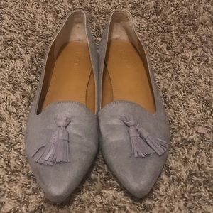 J. Crew 'Edie' Suede Pointy Toe Loafer Flats
